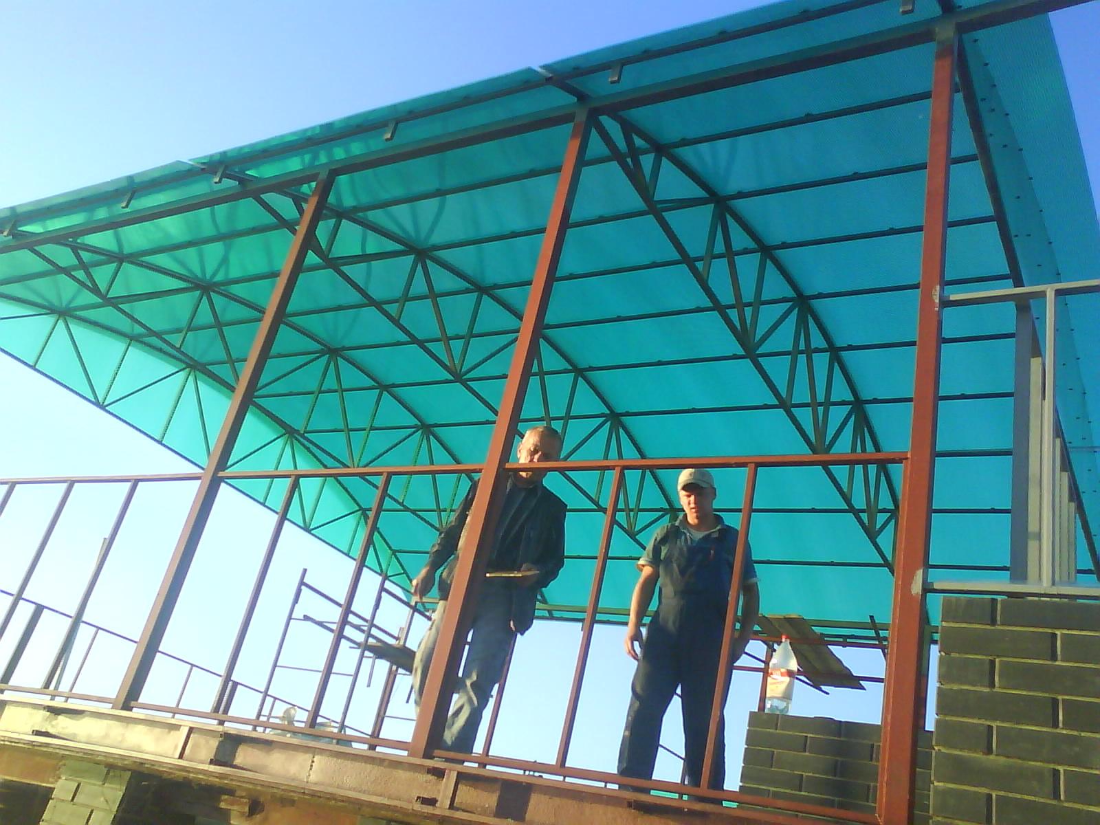 Как из поликарбоната сделать арочную крышу